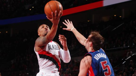 Blazers roll against Pistons for 12th win in a row