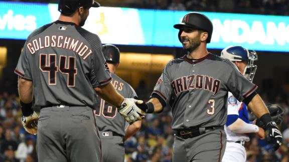Descalso's four RBIs lead D-backs past Dodgers