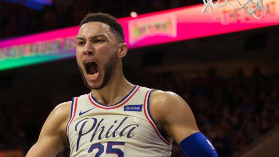 Simmons does it all in playoff debut