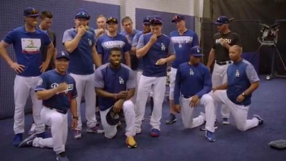 Dodgers take the lemon face challenge
