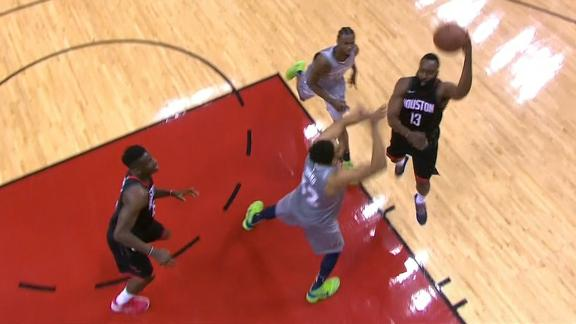 Harden finds Capela for perfect alley-oop