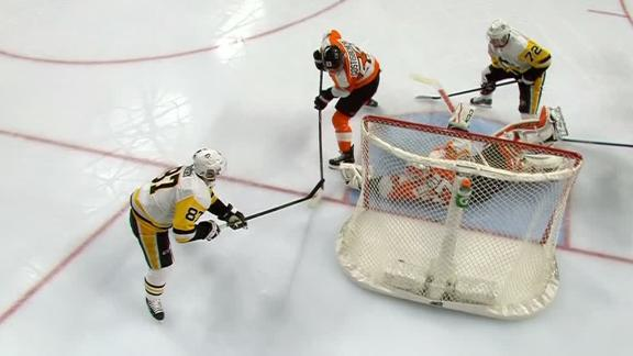 Crosby scores in Penguins' win over Flyers