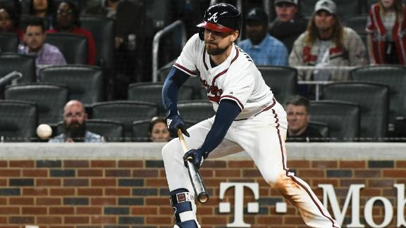 Braves top Mets with ninth-inning bunt
