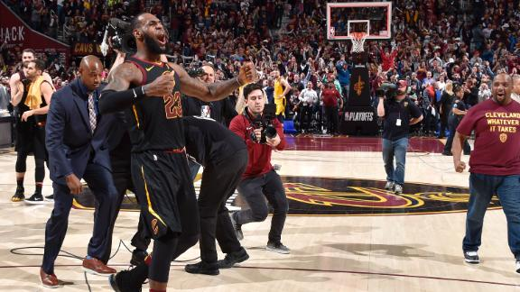 LeBron stuns Pacers with buzzer-beater in Game 5