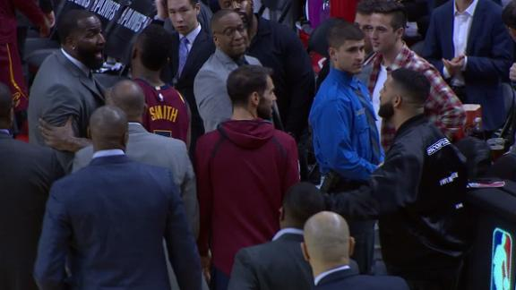 Drake and Perkins exchange words