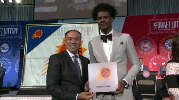 Suns win draft lottery for 1st time