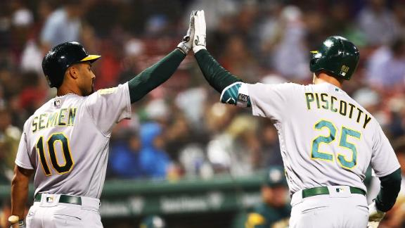 Piscotty homers in win against Red Sox