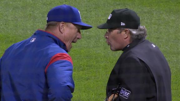 Banister ejected arguing strike zone