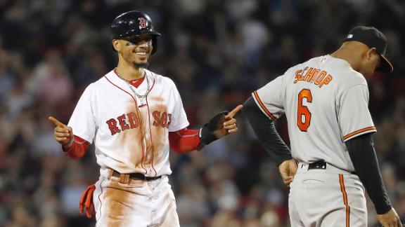Red Sox steal 5 bases with Gausman on the mound