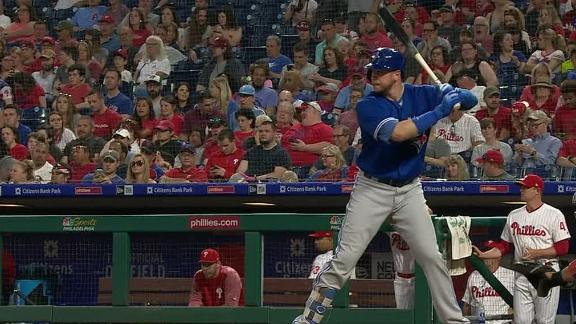 Smoak crushes homer to center