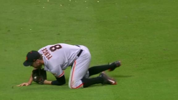 Pence sacrifices wrist for diving catch