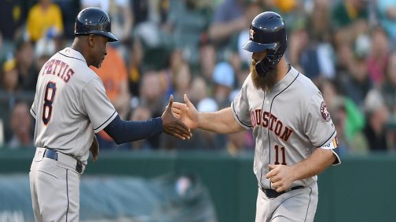Gattis, Correa lead Astros past Athletics