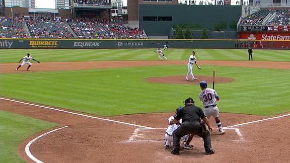 Conforto breaks up Braves' no-hitter