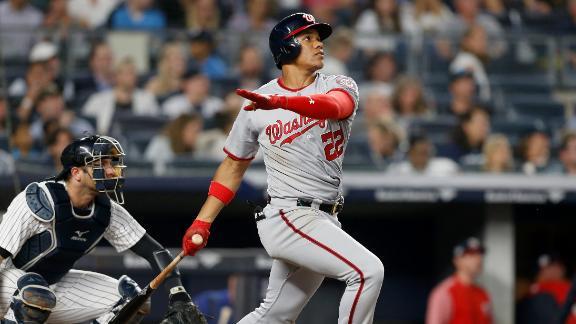 Soto homers twice as Nats edge Yankees