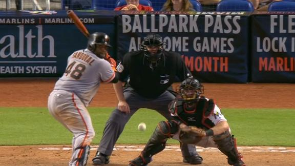 Sandoval's 2-run single gives Giants lead in 16th inning