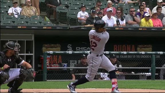 Lindor launches leadoff home run for Indians