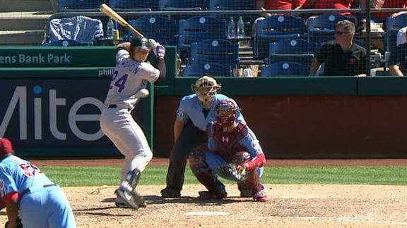 McMahon hits first-career HR