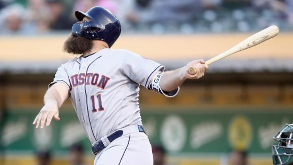 Astros crush A's behind Gattis' two homers