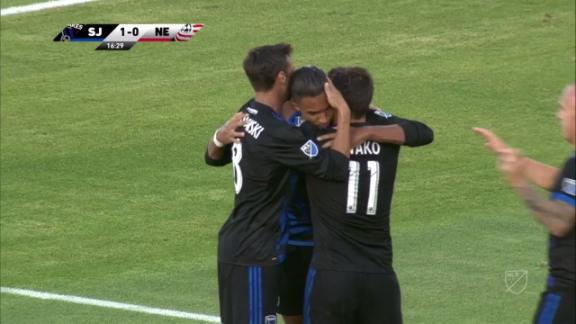 San Jose 2-2 New England: Revs unbeaten run continues