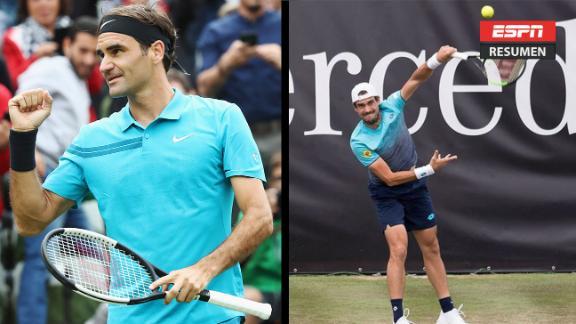 Pella no pudo con el gran Federer