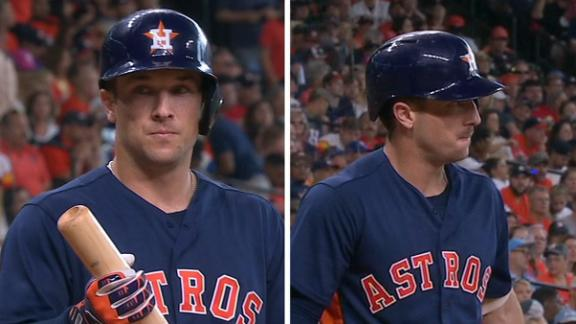 Bregman shaves mustache between at-bats