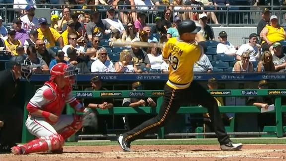 Pirates pitcher helps his own cause with 2-run double