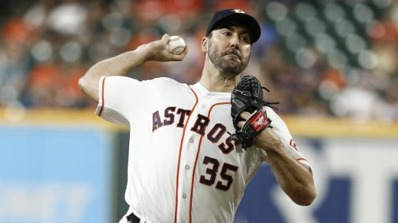 Verlander pitches six scoreless innings for no-decision