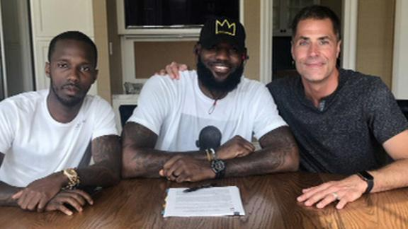 How the Lakers landed LeBron in free agency