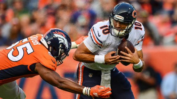 Broncos 1st rounder Chubb turns Trubisky fumble into safety