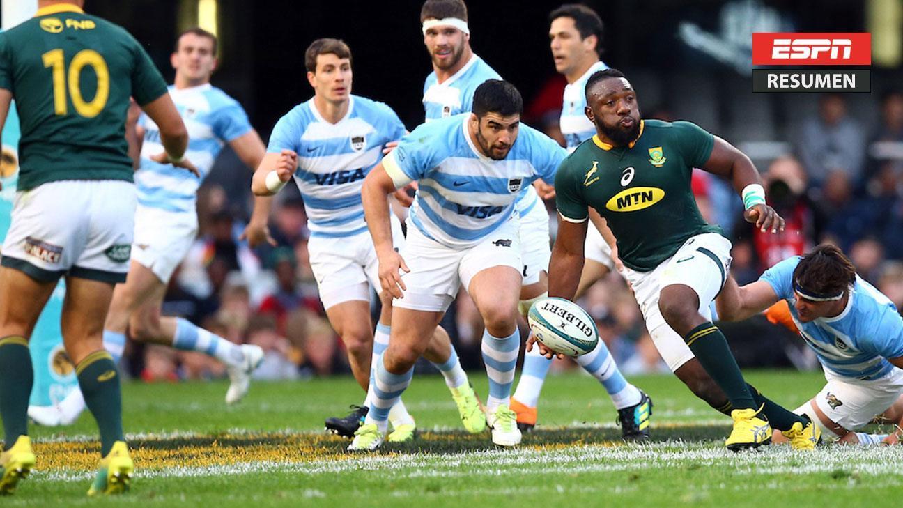 Sudáfrica se impuso 34-21 a Los Pumas