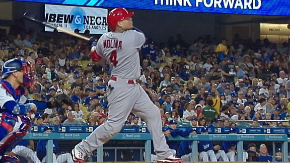 Molina sends 2-run dinger over the wall