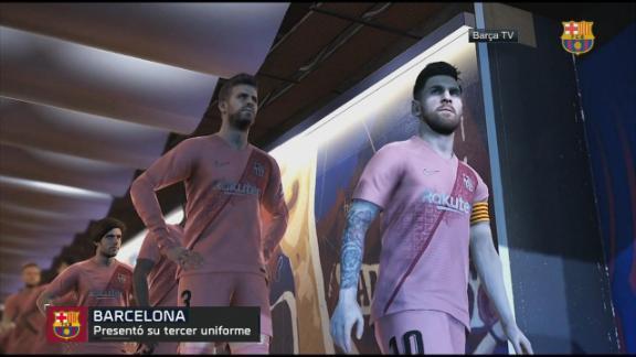 Barcelona presentó su tercer uniforme