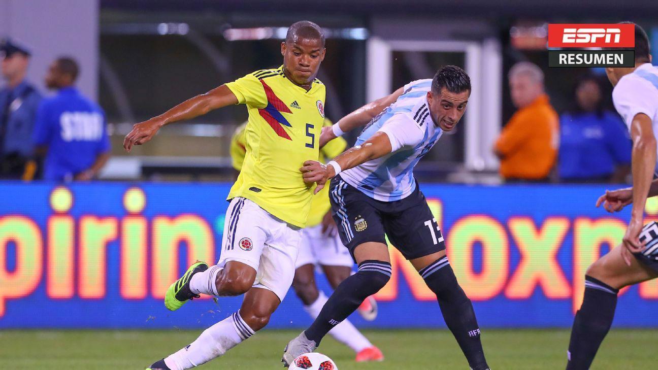 Argentina y Colombia no se sacaron diferencias