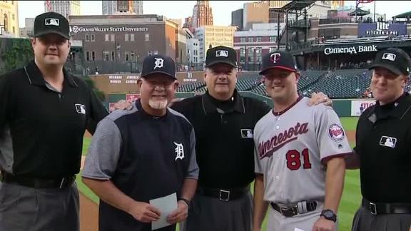 Family affair before Twins-Tigers game
