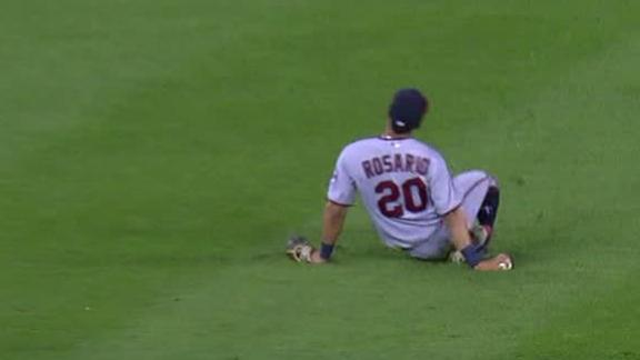 Rosario leaves after apparent leg injury