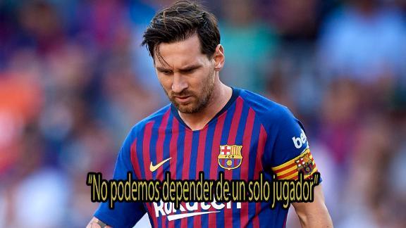Fuerte autocrítica de Messi por el mal momento del Barcelona en La Liga 3fe543c8784