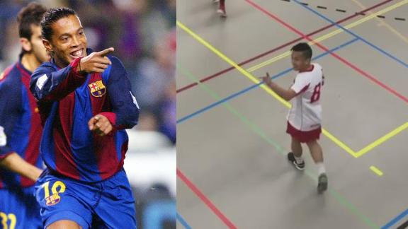El pibe que tira mejores caños que Ronaldinho. Videos virales 231dba06d9d07