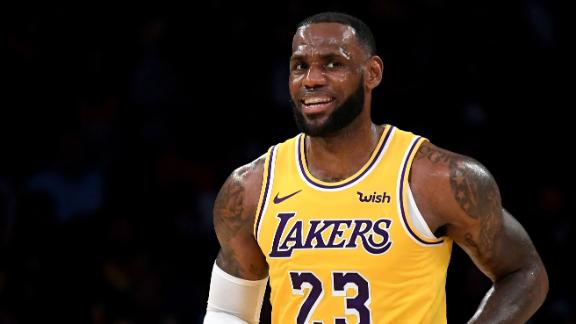 6f04411b33b4 LeBron James makes home debut with Los Angeles Lakers at Staples Center