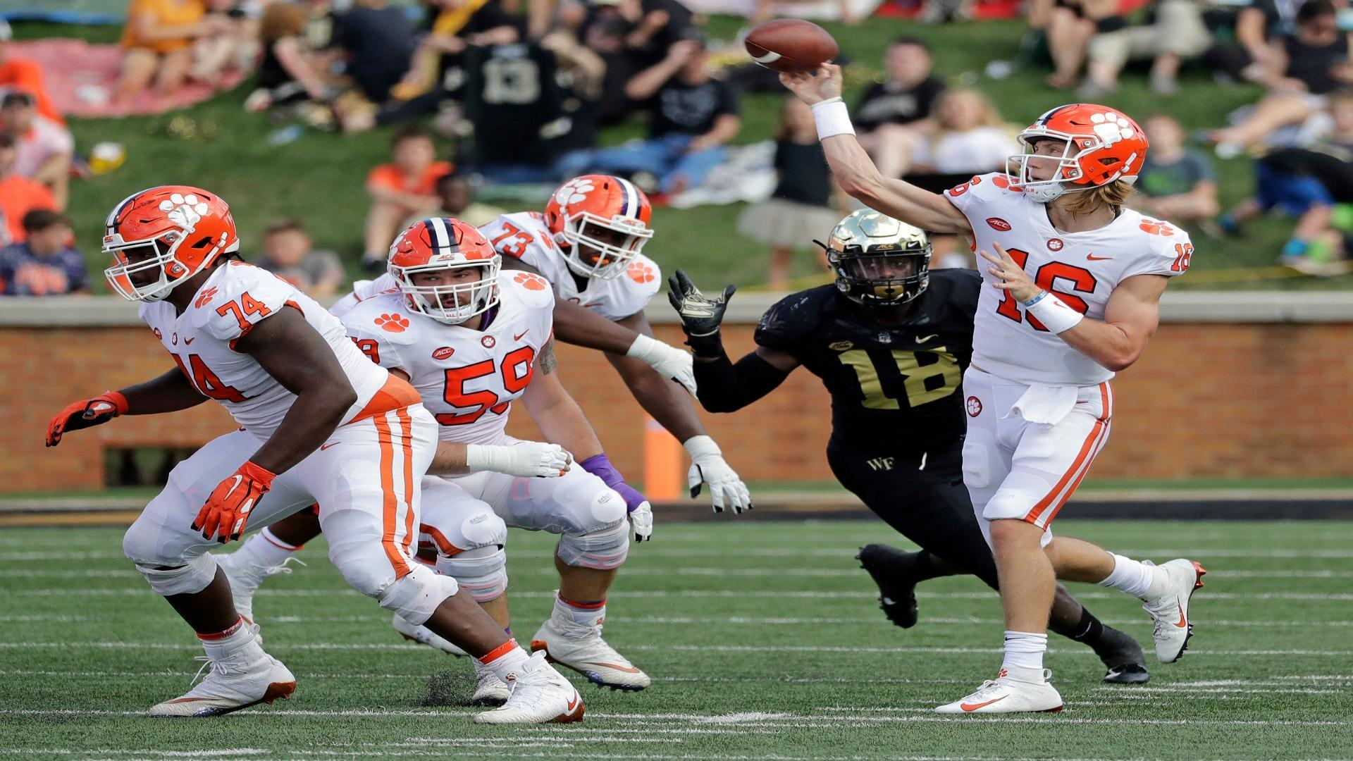 Lawrence, Clemson dominate Wake Forest