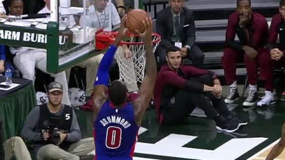 Drummond slams down alley-oop