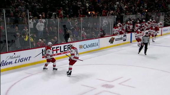 Aho wins it for Hurricanes