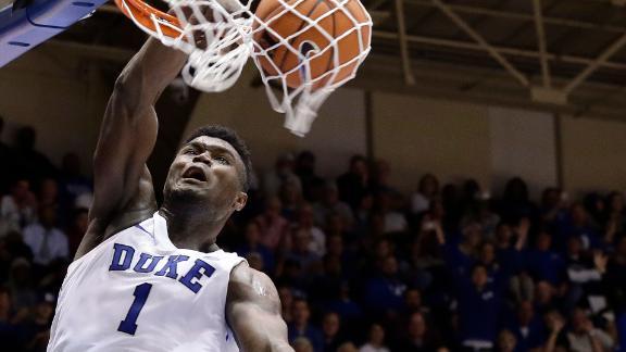Zion puts on a dunk show in Duke's win