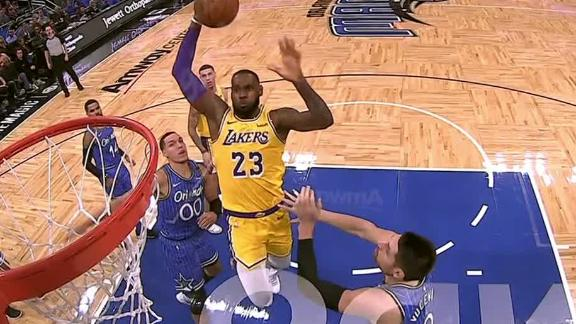 Lebron With Authority For The Dunk Espn Video Espn Soccernet