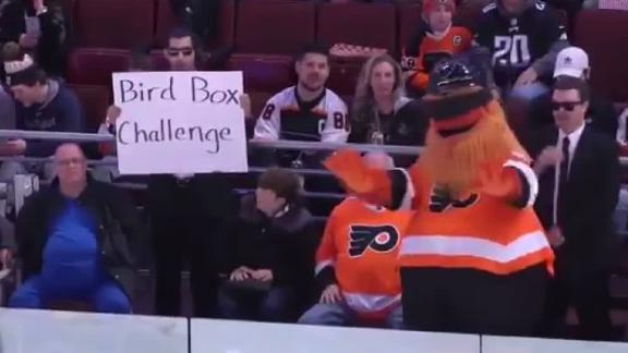 Gritty Trolls Cody Parkey With Bird Box Challenge Espn Video