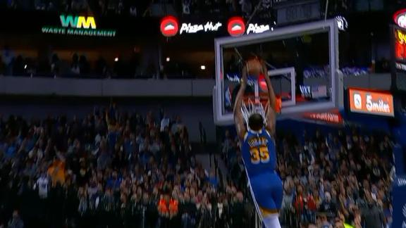 Durant Finishes Dunk After Block Watchespn