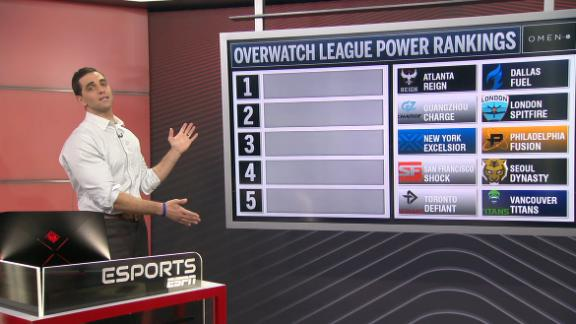 Overwatch League Power Rankings season 2 through week 4