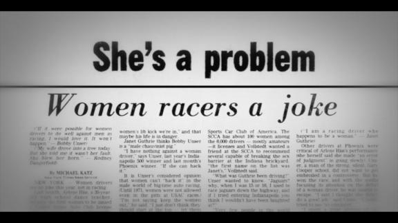 Janet Guthrie: Racing's reluctant trailblazer is 'Qualified'