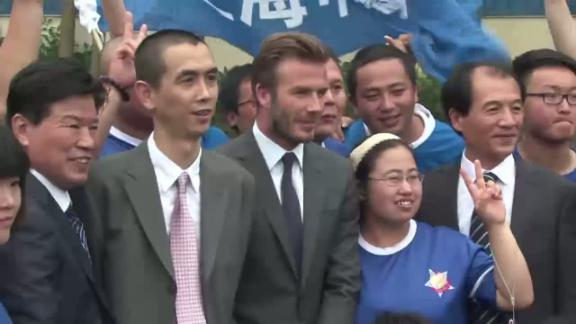 Beckham mobbed in China tour