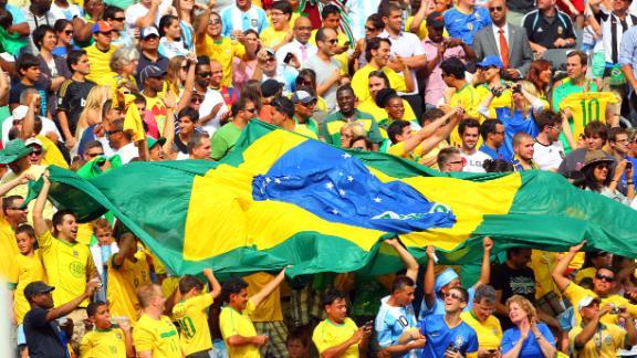 Brazilian fans enjoy hosts' winning start