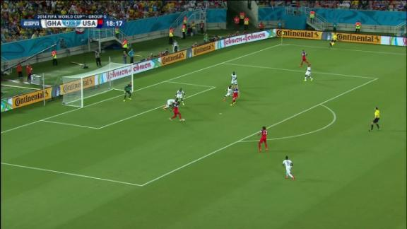 Jozy Altidore (United States) Shot Blocked at 19'